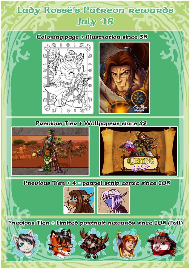 Patreon Rewards - July18 by LadyRosse