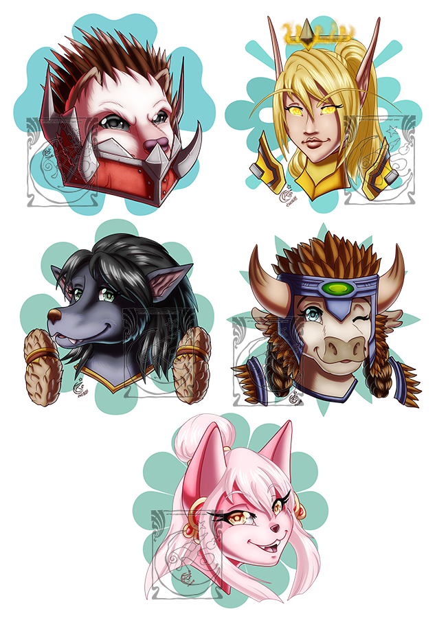 Patreon Portraits rewards August'18 by LadyRosse