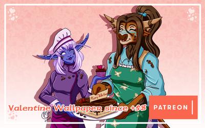 Patreon Reward - Valentine Wallpaper by LadyRosse