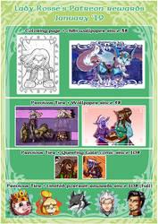 Patreon Rewards - February '19 by LadyRosse