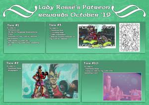 Patreon rewards October '19