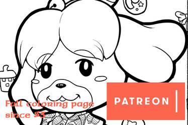Patreon rewards March '20 Coloring page
