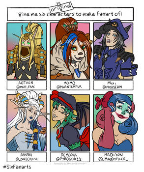 Six Character Fanart Challange OC special