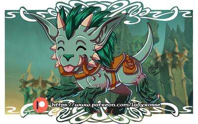 Patreon rewards February '21 - Warhound wallpaper