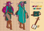 Nheri Lunarsong reference sheet by LadyRosse