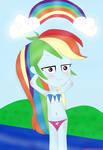 Equestria Girls - Fluttershy in the Beach by YTPinkiePie2