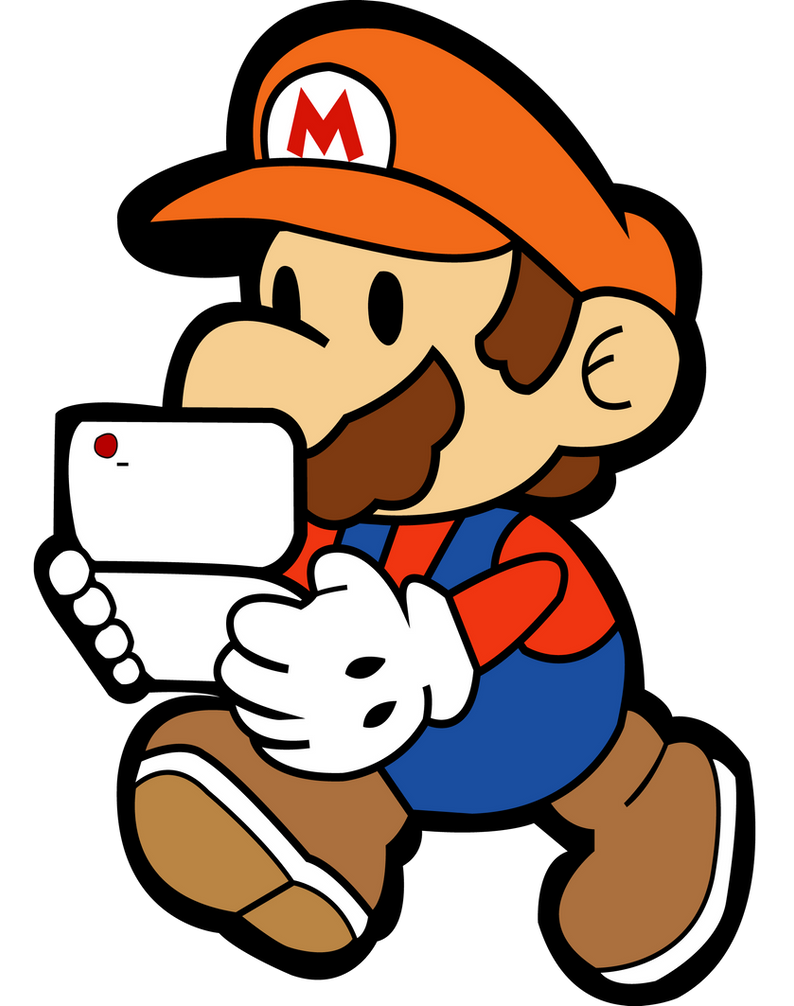 Paper Mario and Phone Vector by YTPinkiePie2 on DeviantArt
