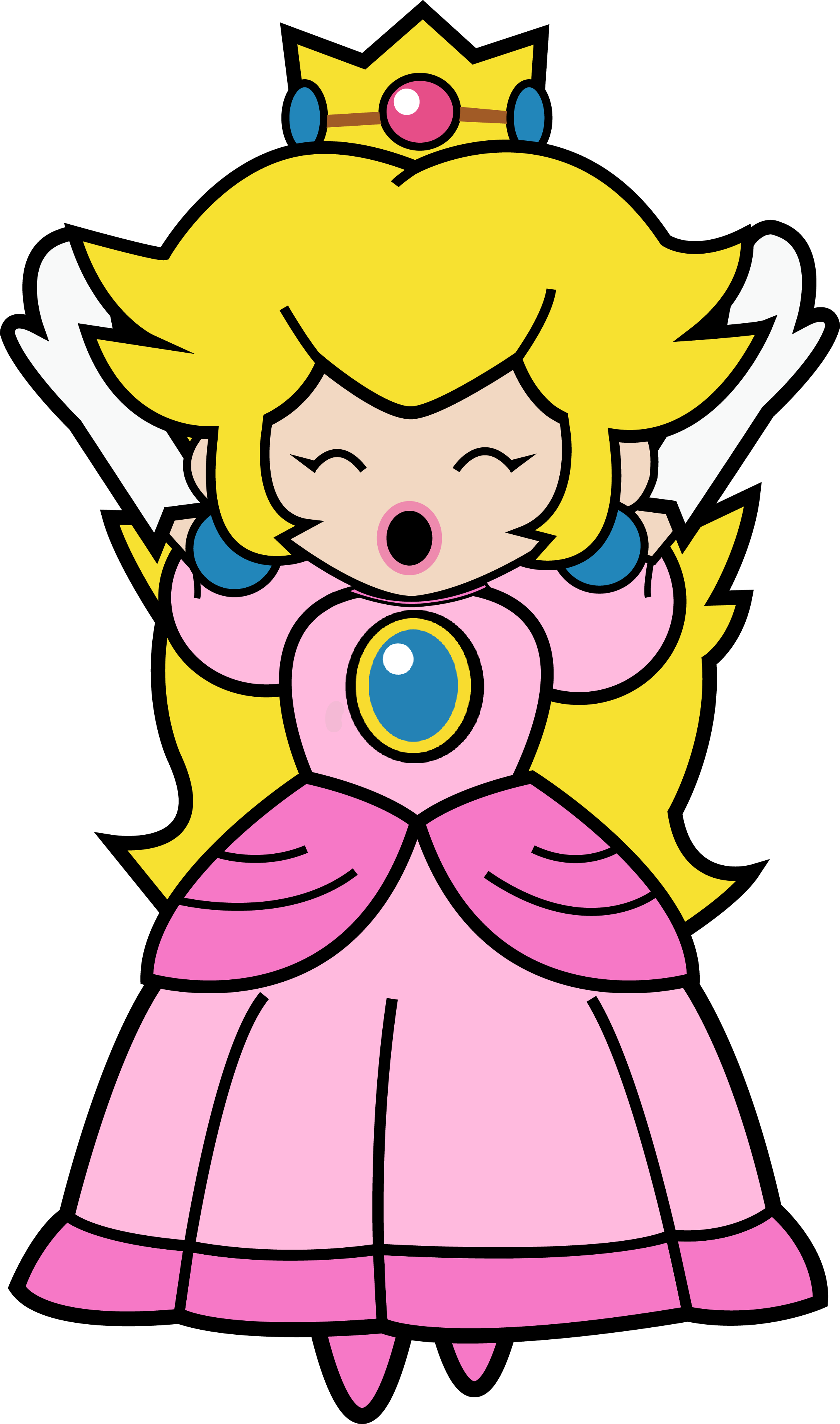 paper princess peach Super mario - princess peach and paper peach by ちぃまこ like us on  aper  treac super paper mario mario & luigi: paper jam paper mario: sticker star.
