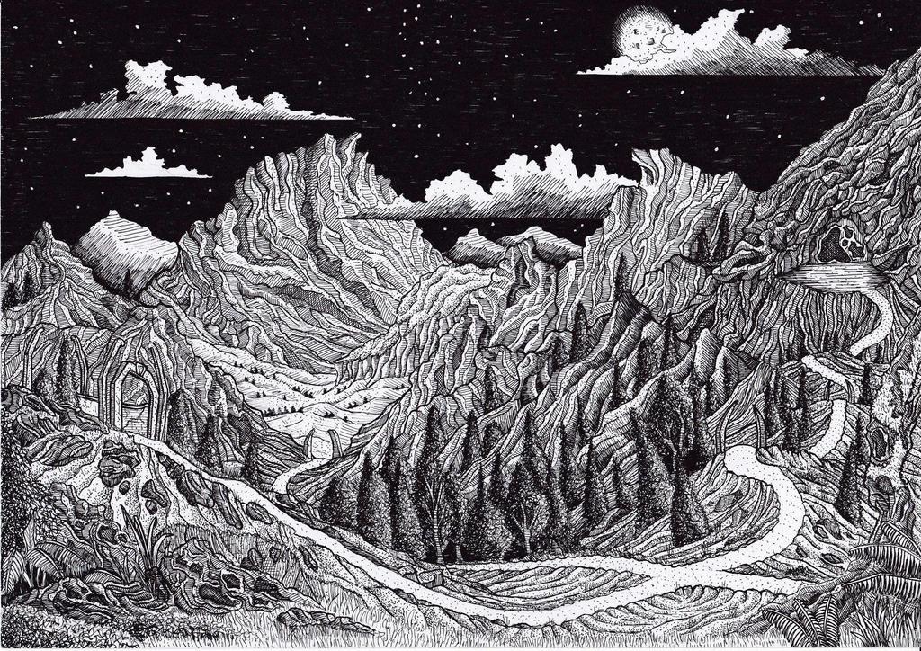 The Road to Dol Guldur by Yeldabon