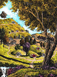 Hobbiton - Coloured Rendition by Yeldabon