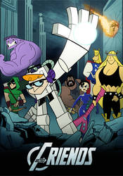 Justice Friends Avengers Poster (Original) by StevenRayBrown