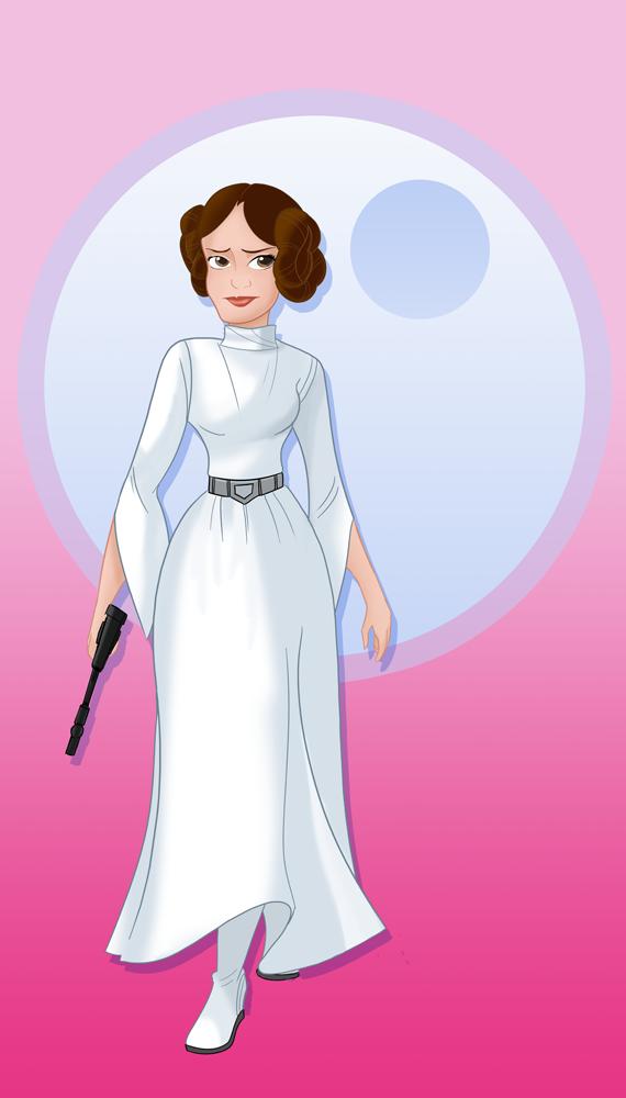 Disney Princess Leia By Stevenraybrown On Deviantart