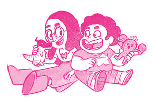 Steven n Connie DigiFans - Sketch by StevenRayBrown