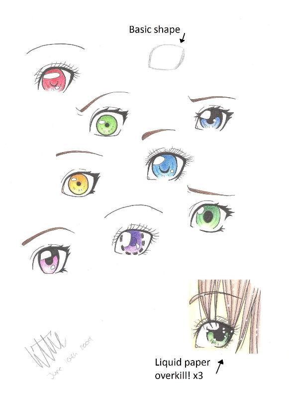 Manga eyes by MangaAnimeLover