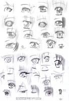More manga eyes by MangaAnimeLover