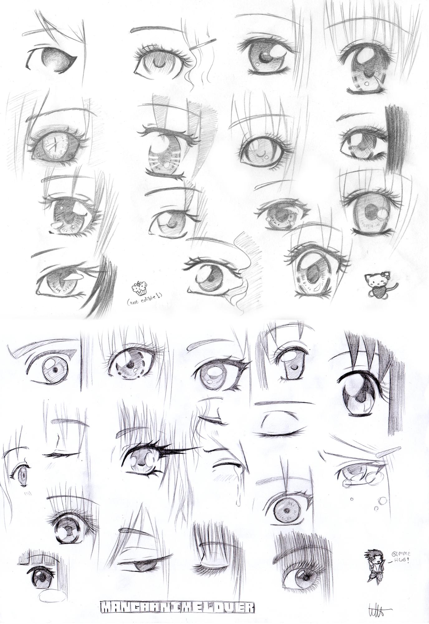 More manga eyes by MangaAnimeLover on DeviantArt