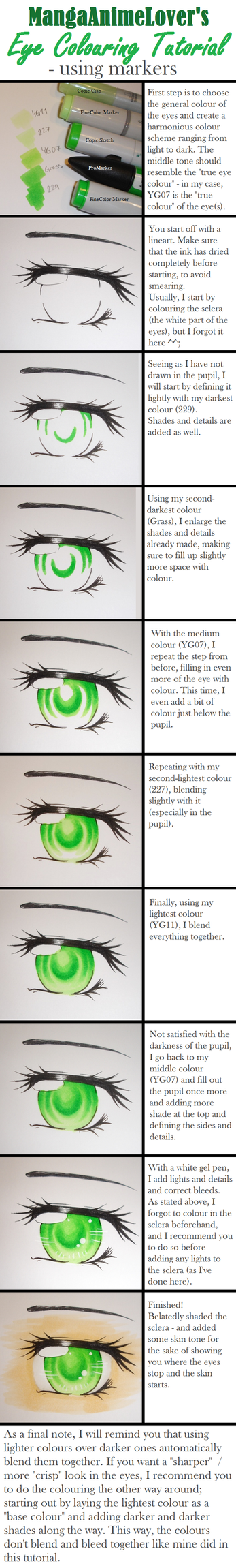 Marker Colouring Tutorial - Manga Eyes by MangaAnimeLover