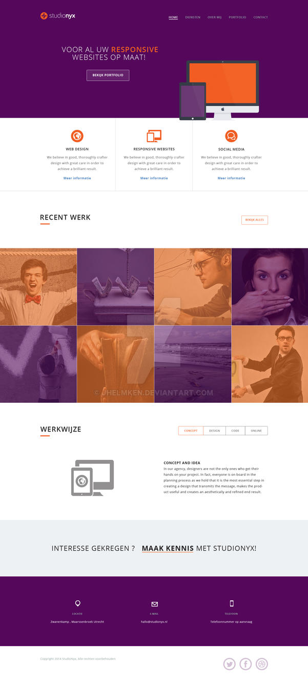 Studio Nyx website preview by jhelmken