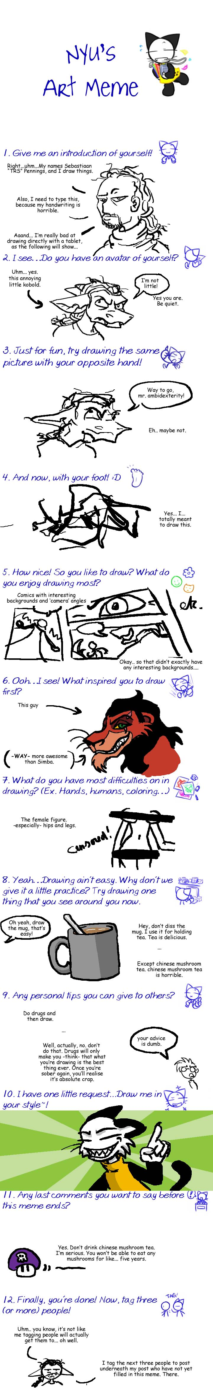 nyu's art meme by trs