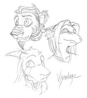 Sketchy protagonists.