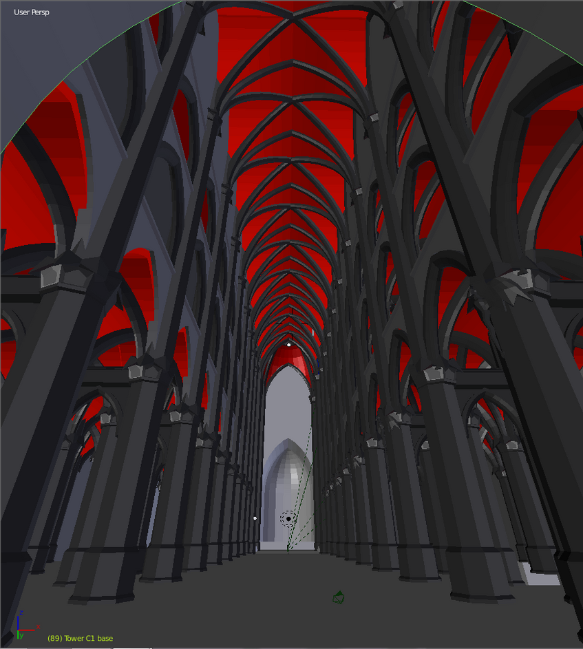 The Black Cathedral - Interior by trs