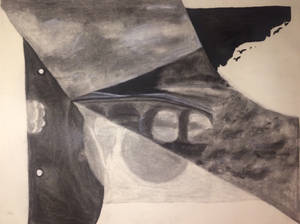 Collaged charcoal