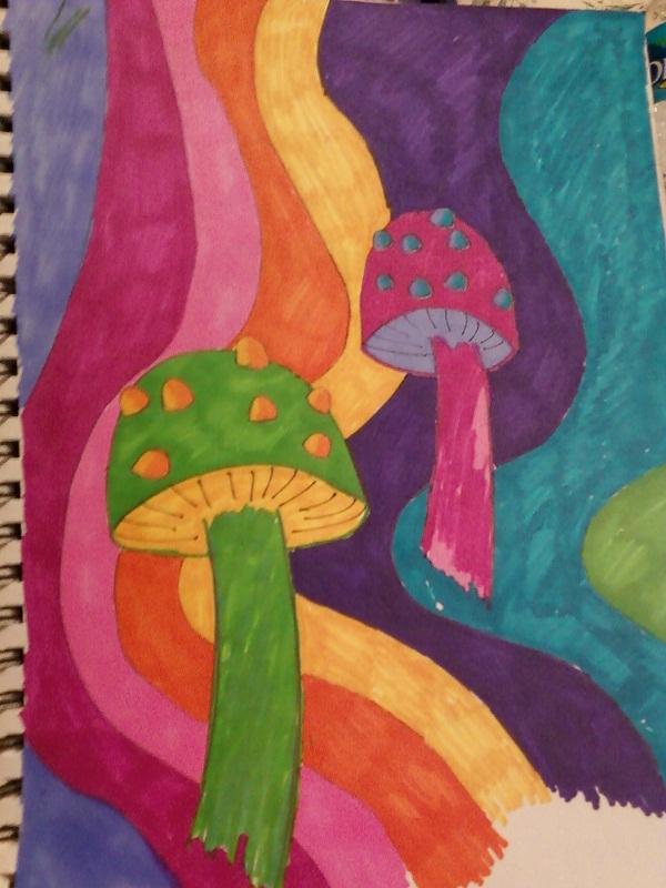 Colorfull Shrooms by TrueBlood225