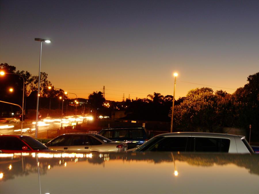Suburban Sunset by AriaAlways
