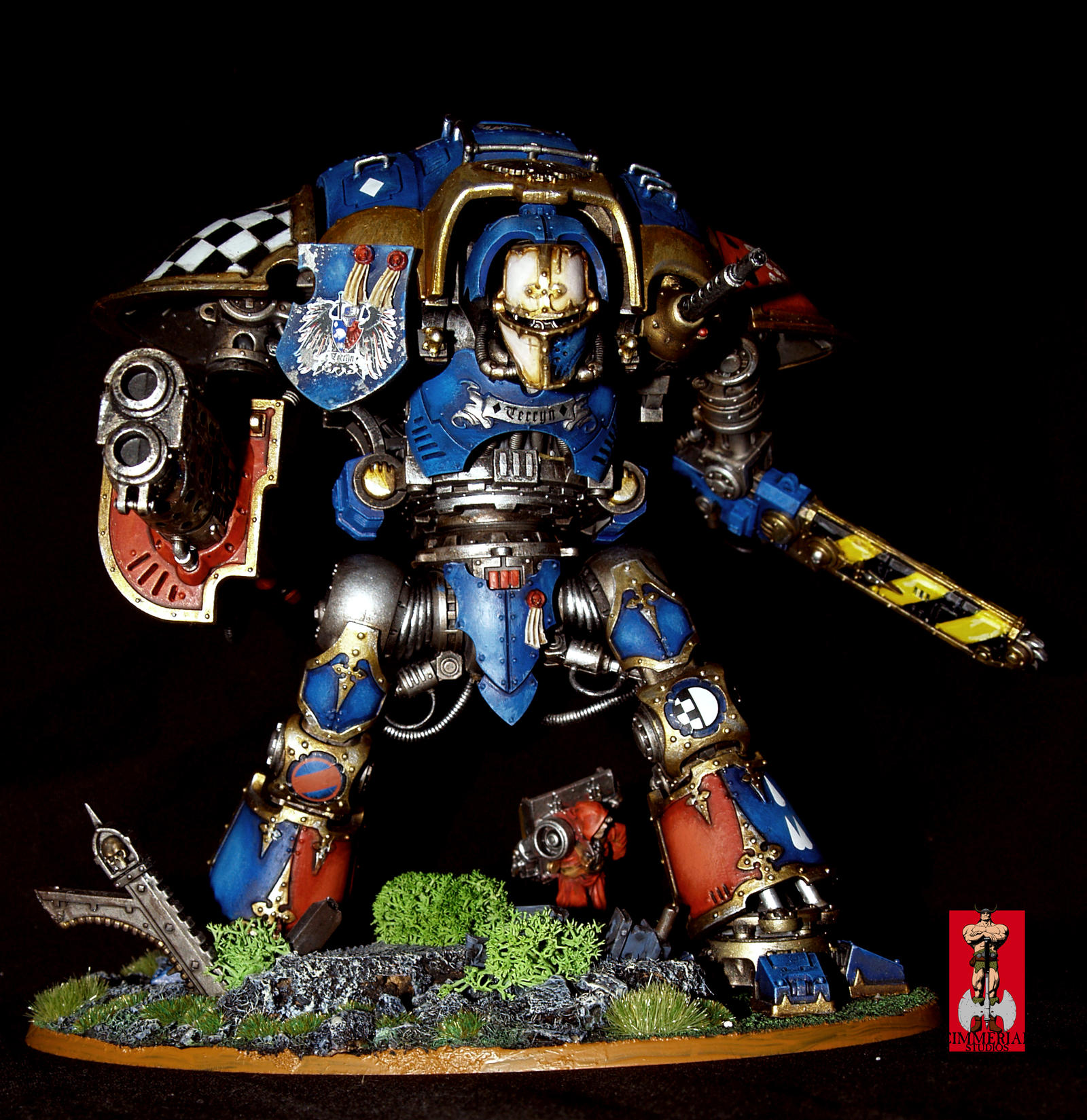 WH40K Imperial Knight: Sir Diddymus by SimonArtGuyBreeze