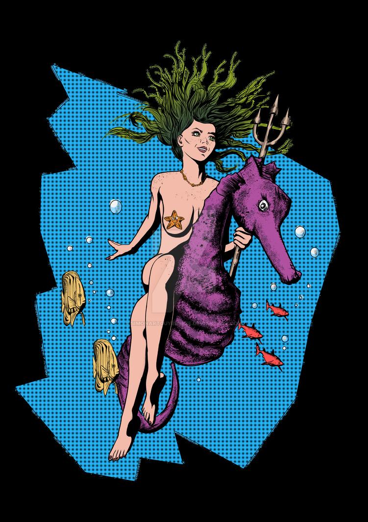 Aqua Gal by SimonArtGuyBreeze