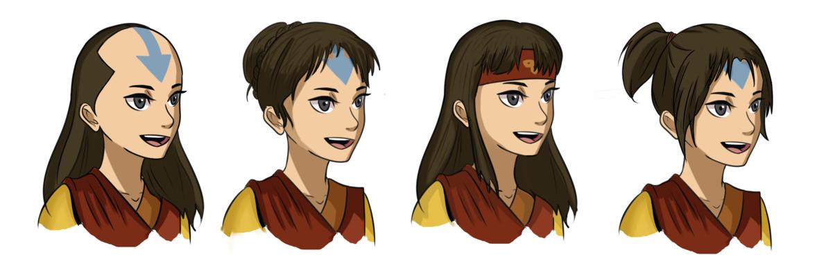 Aang Last Airbender With Hair