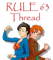 Supergal and Jimmy - Super Rule 63 by TheMightFenek