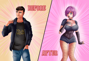 Before and After - Big Titty Goth GF by TheMightFenek