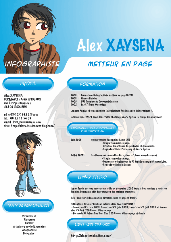 My CV by kendrawer