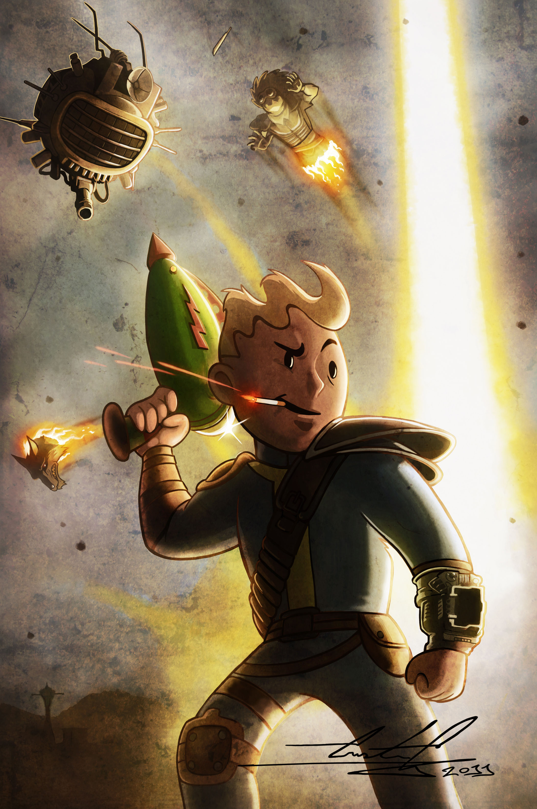 One Of The Coolest Fallout Wallpapers I Ve Ever Seen Fallout