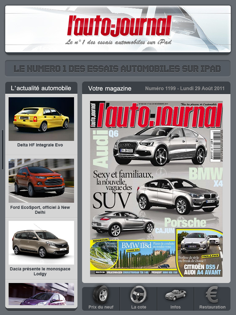 Projet Application Ipad L'Autojournal by JFDC