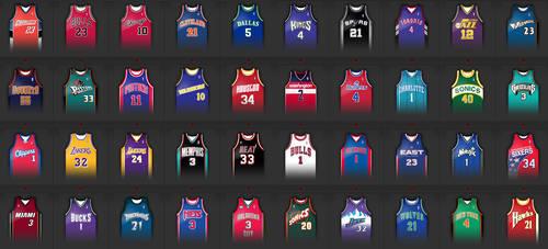 Avatars Jerseys NBA by JFDC