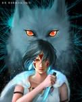 Wolf princess Mononoke