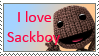 I Love Sackboy Stamp by spongefan257