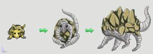 Fakemon: Rock Shell Pokemon by werepenguin