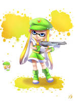 Splatoon Ace Inkling Cosplay - COMMISSION NEWS by CosmikArts