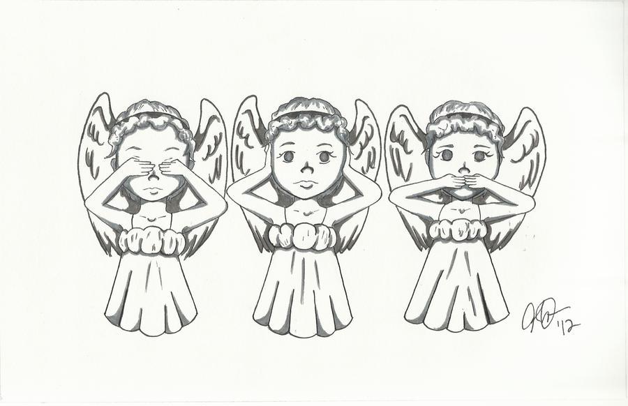 Weeping Angels Chibis by DeathGoddess231 on DeviantArt