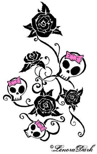 Skull Vine by LenoraDark