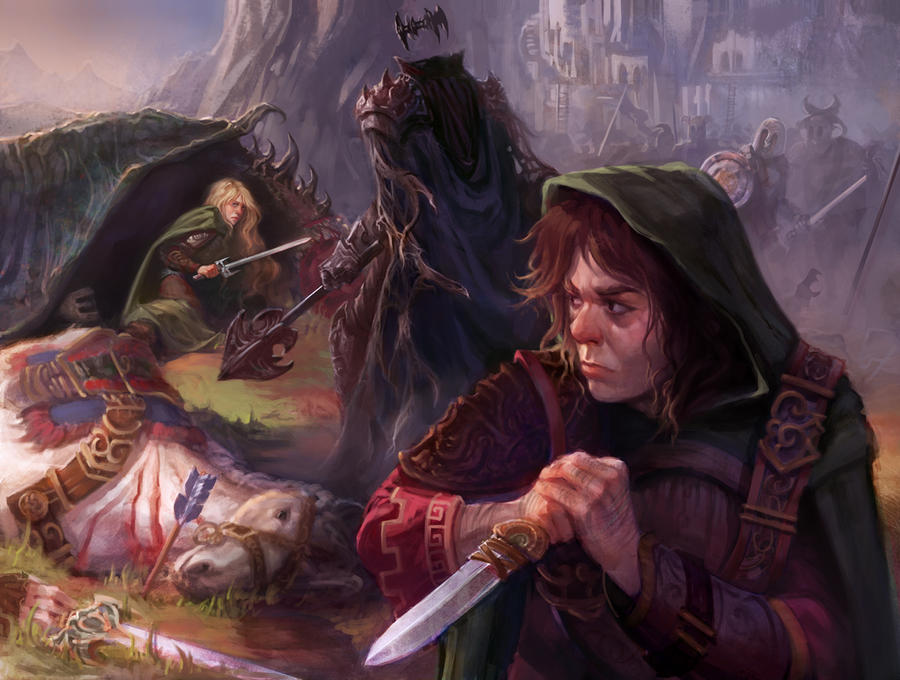 Eowyn vs The Nazgul by Arteche