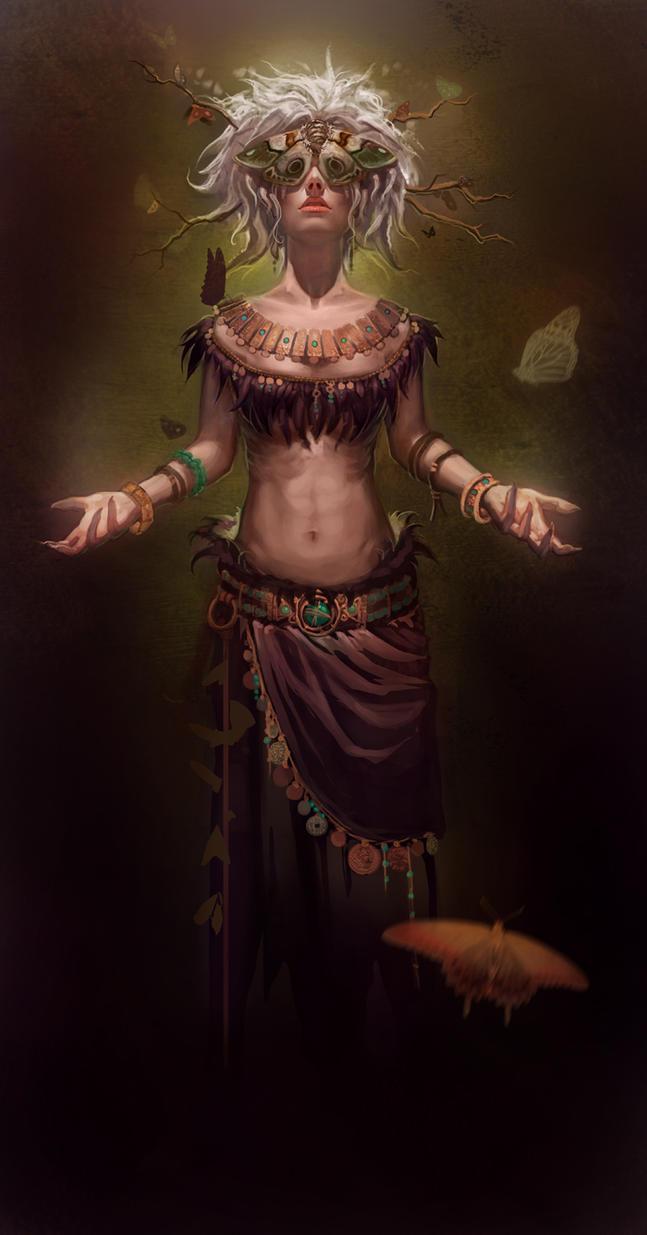 WIP - The Moth Queen by CarmenSinek