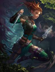 Neverwinter PCGamer Cover: Xuna by CarmenSinek