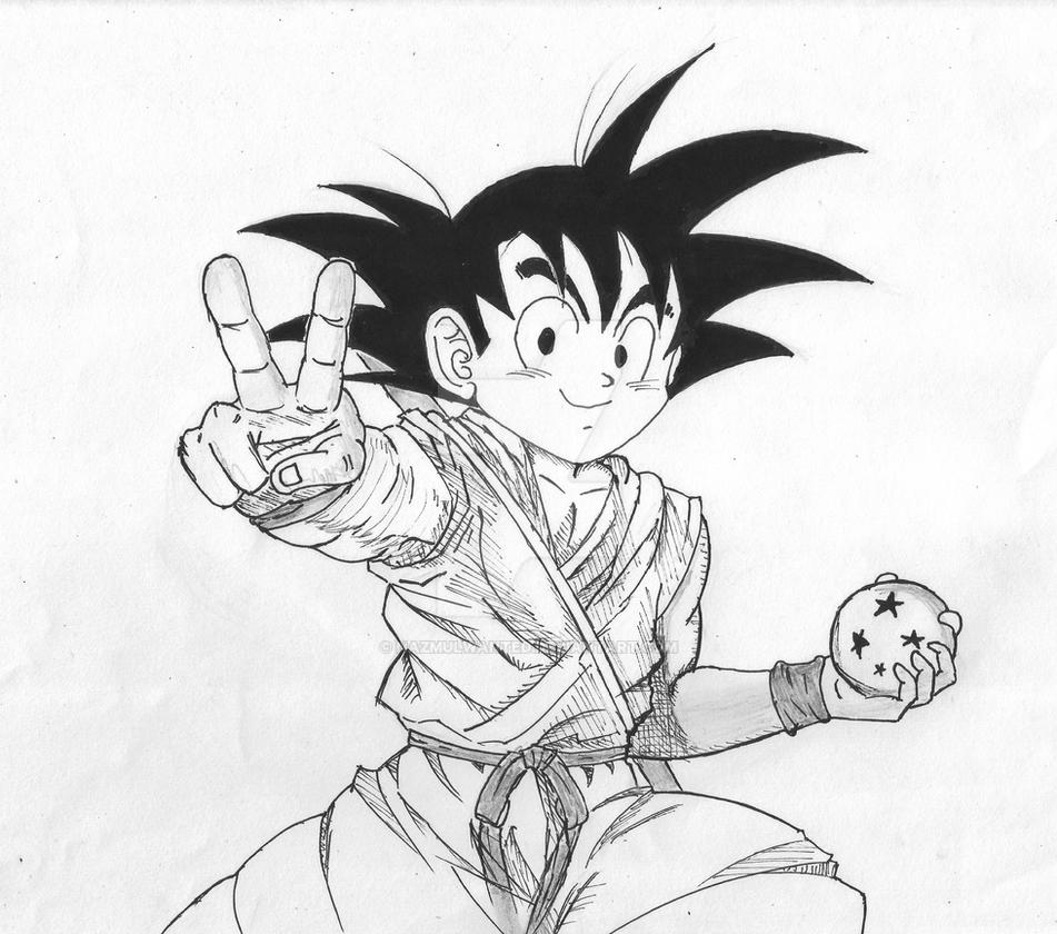 Goku and four star dragon ball by nazmulwanted