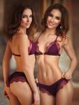 Galinas Dubenenko Bikini Twins
