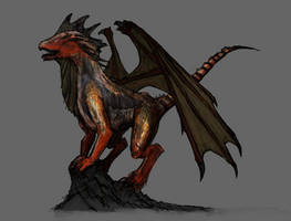 Dragon Concept Art by ArTomsey
