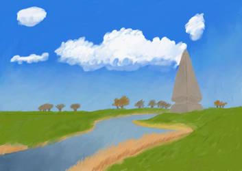 Obelisk by the River